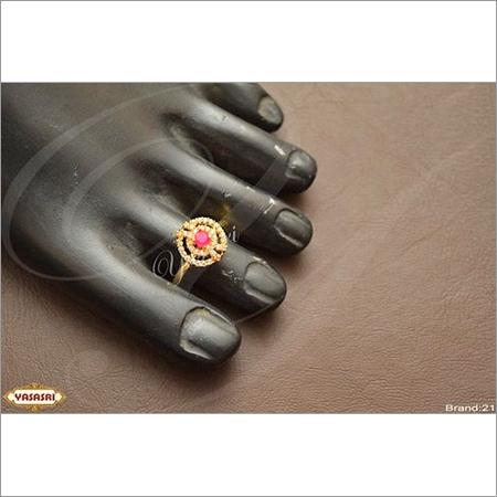 Ruby stone toe ring
