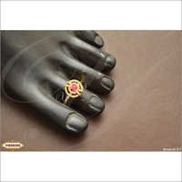 Ruby stone toe ring