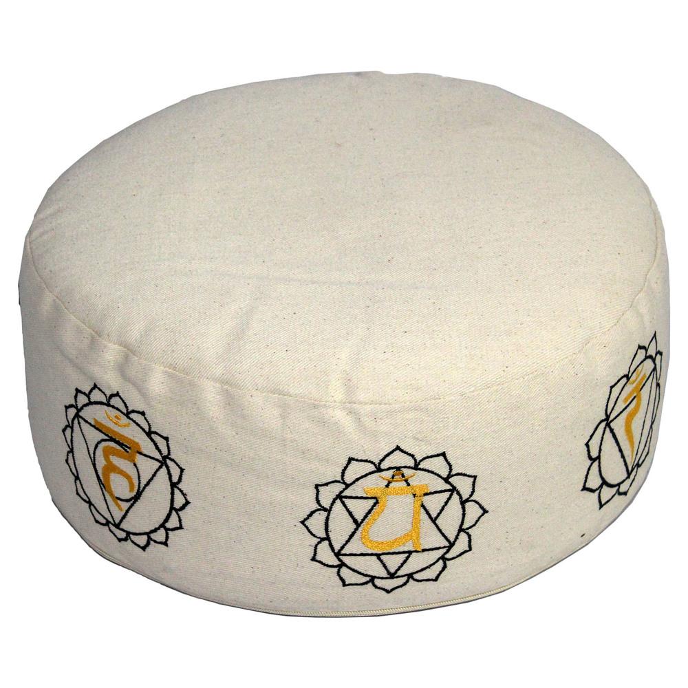 Round Zafu Cushion Seven Chakra