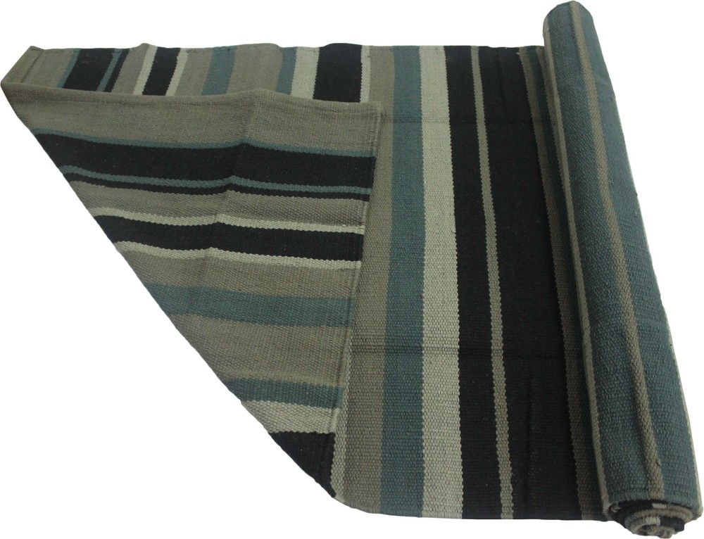 Yoga Rug/ Mat Black Stripe