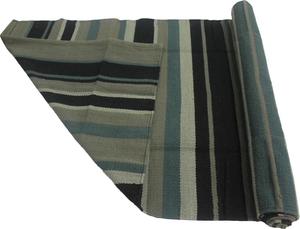 Yoga Rug/ Mat Black Stripe