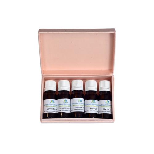 Aroma Oil 5 Amber Bottles