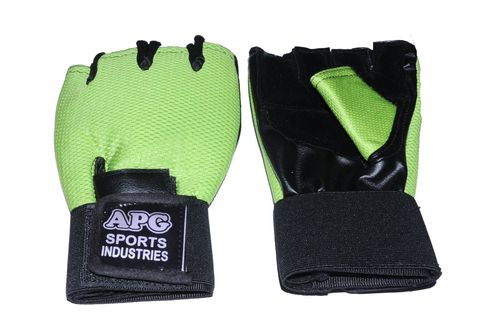 Apg Green Net Gym Gloves