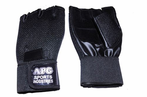 Apg Black Net Gym Gloves