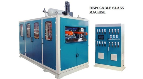 SK.INDUSTRIES BY RXZ 5500 DISPOSABEL GLASS DONA PLATE MACHINE URGENT SELLING IN KALKATTA