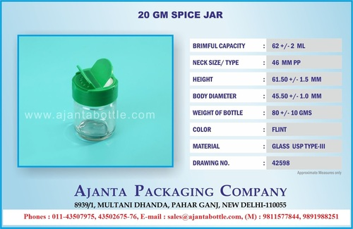 Glass Spice Bottle