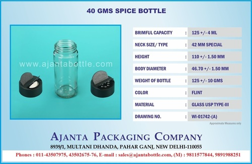 Spice Packaging Bottles