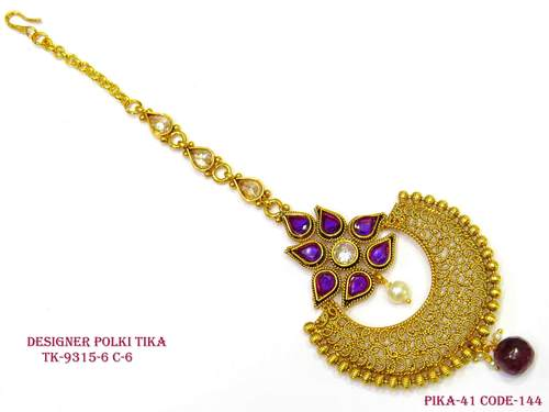 Purple Colour Chand Tika
