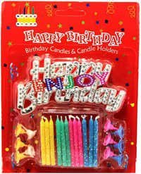 Enjoy Birthday Candles Holder