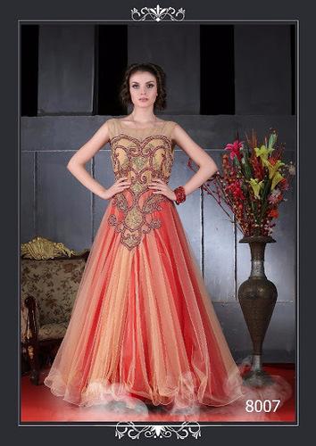 Dark Pink Semistitched Gown