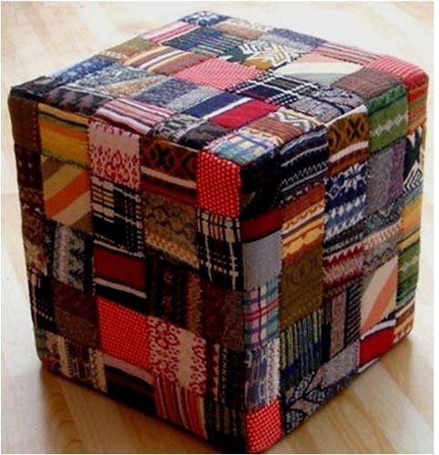 Sweater Block Pouf