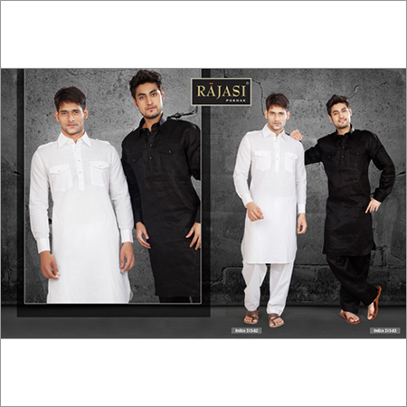 Cotton Mens White Kurta