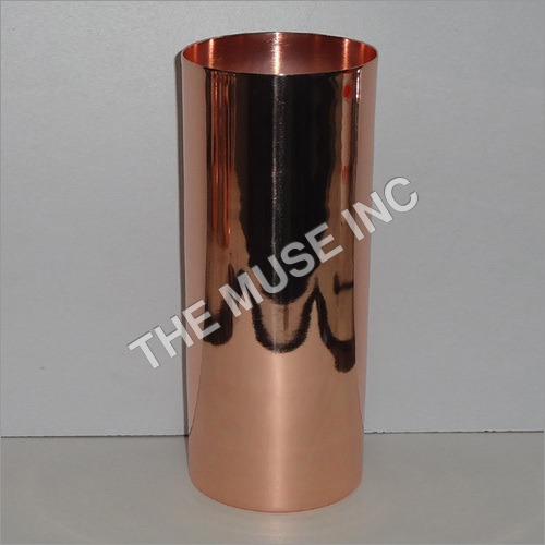 Collins Glass Solid Copper Glass
