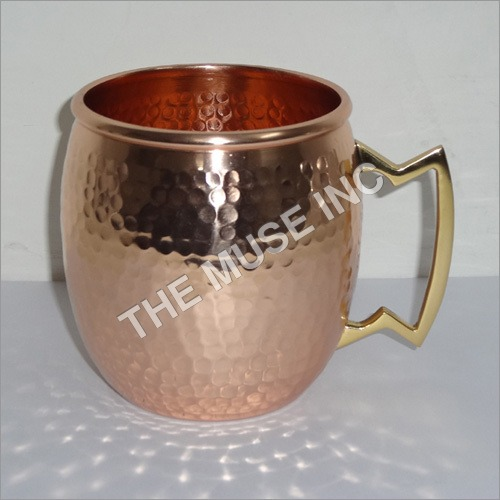 Pounded Copper Mugs