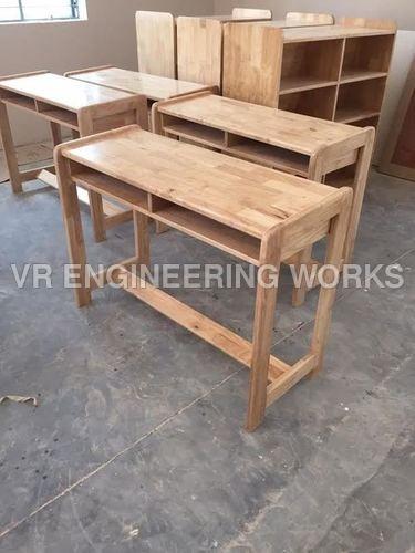 Wooden School Dual Desk