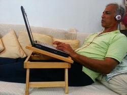 Portable Foldabe Wooden Bedtop Laptop Table