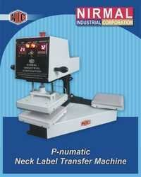 P-numatic Neck Label Transfer Machine Double Bed