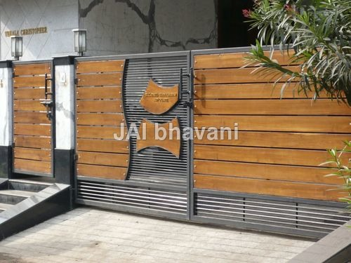 Wooden Sliding Gates Manufacturer From Chennai: Automatic Sliding And Swing Gate