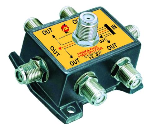 Six Way Splitter(Power Pass)