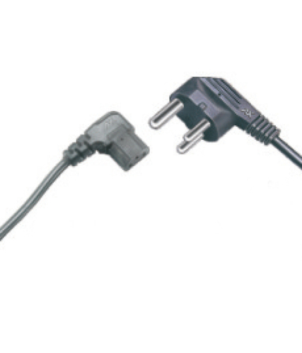 Computer Power Supply Cord (Rt. Angle) 1.5Mt