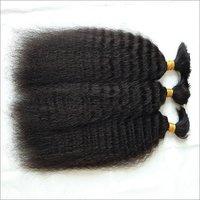 Natural Wavy Bulk Hair,Raw wavy ponytail bulk hair