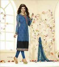 Attractive Blue Partywear Salwar Kameez