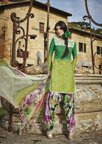 Multicolored Designer Patiyala Suit