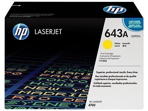 HP Q5952A 643A Yellow Laser Toner Printer Cartridge