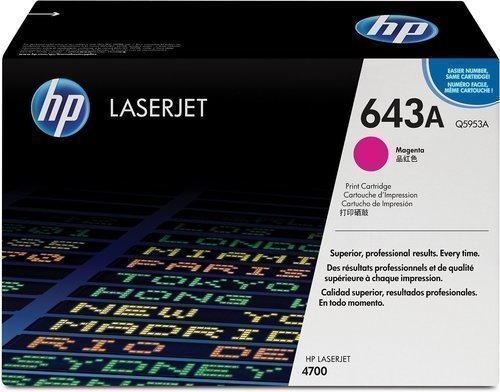 HP Q5953A 643A Magenta Laser Toner Printer Cartridge