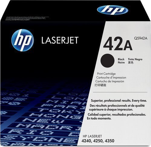 HP Q5942A 42A Black Laser Toner Printer Cartridge