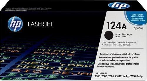 HP Q6000A 124A Black Laser Toner Printer Cartridge