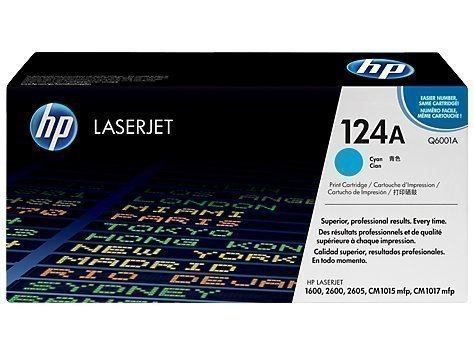 HP Q6001A 124A Cyan Laser Toner Printer Cartridge