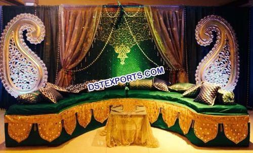 Muslim Wedding Stage Backdrop Decoration
