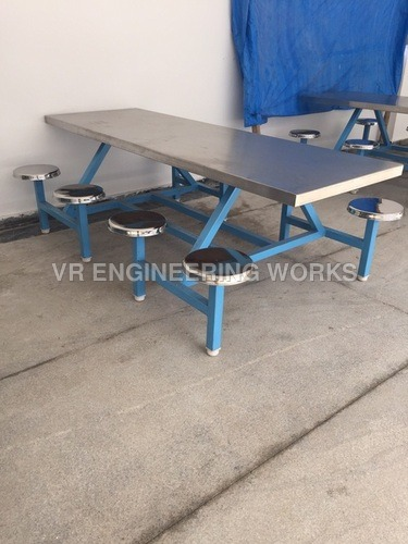 8 Seater SS Canteen Dining Table