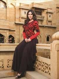 Red And Black Designer Salwar Kameez