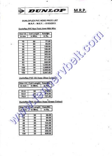 Pvc Hose Price List