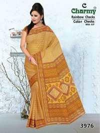 Printed Cotton Saree Exporter