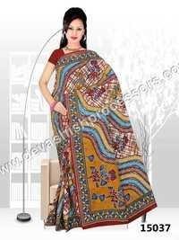 Printed Cotton Saree With B P