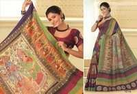 Multicolored khadilk silk cotton saree