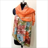 Hand Paint Wool Silk Stoles