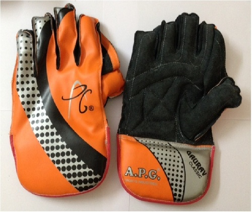 APG Orange Wicket Keeping Gloves (GAURAV CLASSIC)