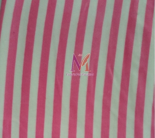 Cotton Stripe Velour Fabric