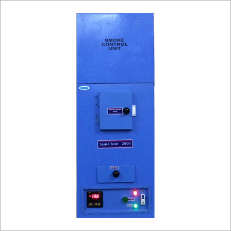 Sanitary Napkin Incinerator With Smoke Control Unit