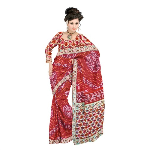 Jamnagar Bandhani Saree At Wholesale