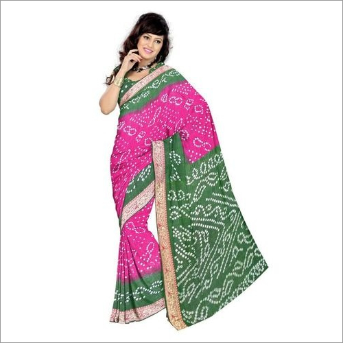 Traditional Bandhani Saree In Jamnagar