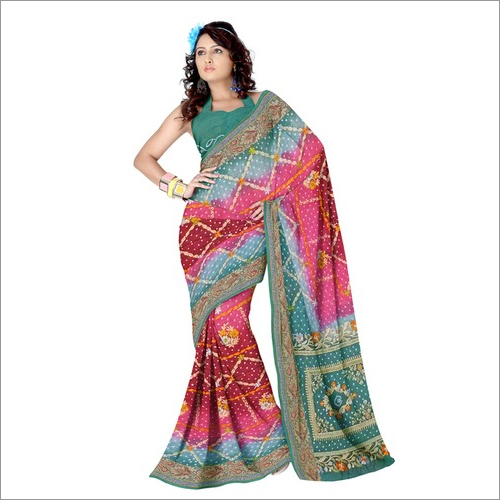 Traditional Bandhani Saree
