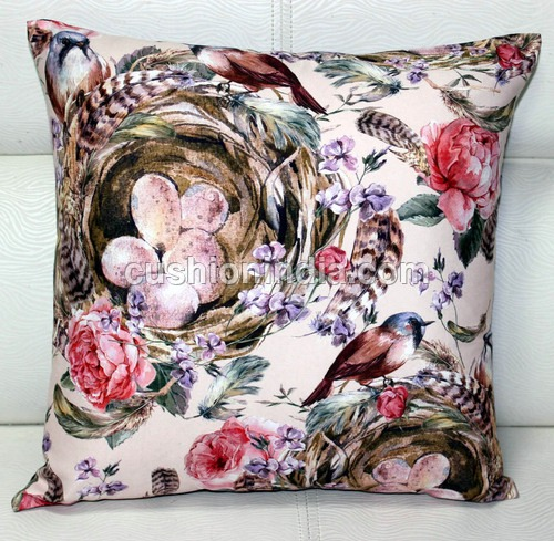 Custom  Image  Printed  Cushion  Cover - 16 Inch Sq.