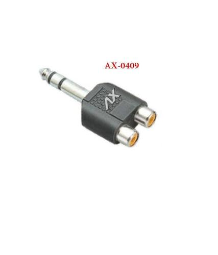 P -38 STEREO TO 2 RCA SOCKET ADAPTOR