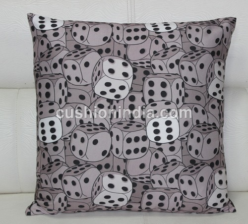 DIAS  Art  Image  Printed  Fine  Fabric  Cushion  Cover - 18 Inch Sq.
