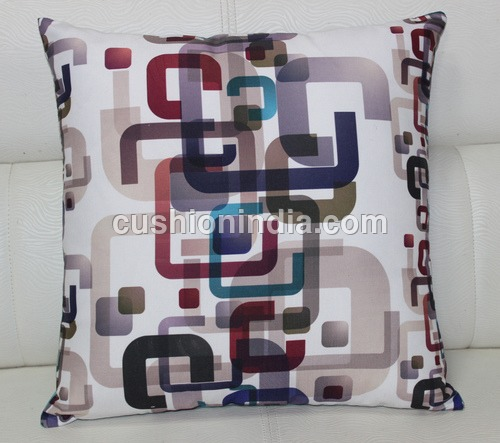 Modern Geometric  Art  Image  Printed  Fine  Fabric  Cushion